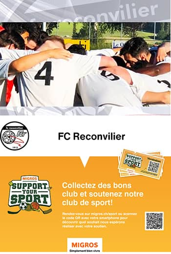 Support Your Sport - Migros - FC Reconvilier