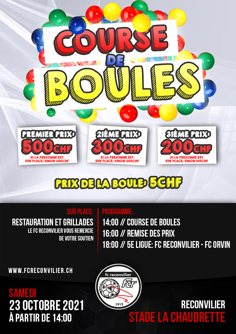 FC Reconvilier - Course de Boules 2021